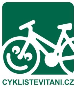 cyklisté vítáni logo